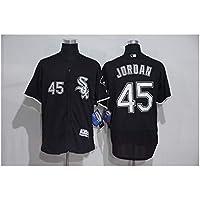 YQSB Personalizada Camiseta Deportiva Baseball Jersey White Sox Baseball Suit 45 Jordan Bordado de Manga Corta,Blue2,Men-XXXL