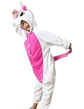 GWELL Kinder Kostüme Tier Tieroutfit Cosplay Jumpsuit Schlafanzug Mädchen Jungen Winter Nachtwäsche