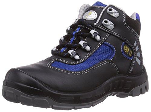 Wortec Alex S2, Chaussures de sécurité mixte adulte Schwarz (Schwarz/Blau)