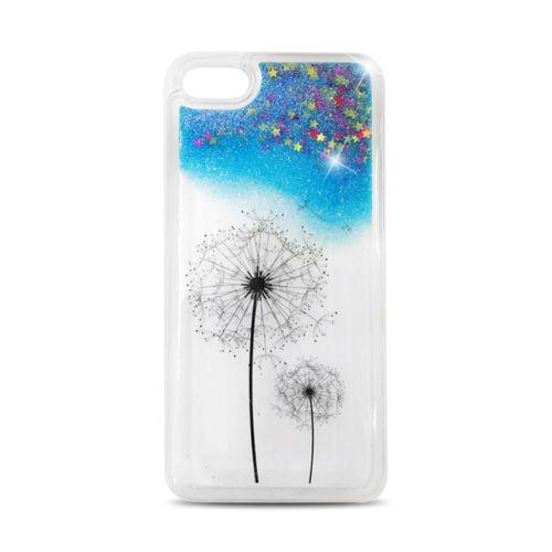FUN CASE Löwenzahlung Puasteblumen für Apple iPhone 5 iPhone 5G iPhone 5S Handy Cover Hülle Case Glitzer Sterne Flüssig Sternenstaub (blau) blau
