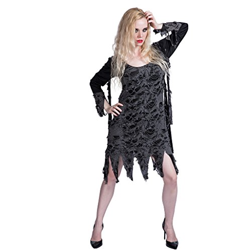 Tipps Kostüm Zombie - EraSpooky Damen Zombie Kostüm Loch Kleid für Karneval Halloween