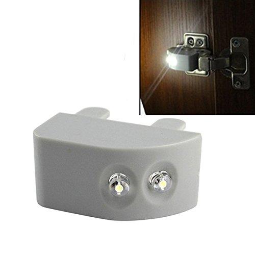 Wuchance LED Cabinet Light Bewegungssensor Wireless Garderobenschrank unter Schrank LED-Leuchten...
