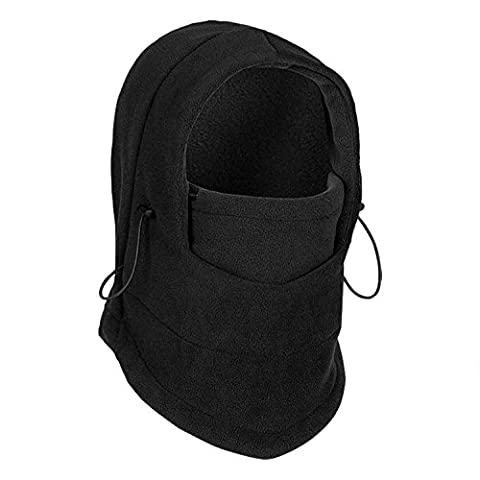 Thermal Fleece Balaclavas Hood Hat Multipurpose Use 6 in 1 Full Face Mask Balaclava CS Mask Head and Neck Cover Warmer for Outdoor Sports Skiing Cycling Wind Stopper