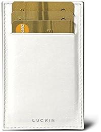 Lucrin - Kreditkarten- und Visitenkartenetui - Weiss - Glattleder