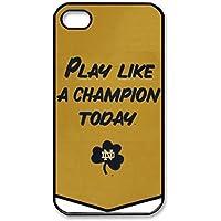SUUER NCAA Notre Dame Fighting Irish Champions Banner Custom Hard CASE for iPhone 5 5s Durable Case