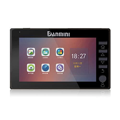 Danmini Türspion Kamera, Intelligente elektronische Türklingel-Video-Türklingelkamera, PIR-Bewegungserkennung, Infrarot-Nachtsicht, Foto und Videoaufnahme,Black
