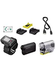Sony HDR-AS30 Remote Kit - Videocámara deportiva de 16.8 Mp (Full HD, GPS, WiFi, NFC, estabilizador digital), negro - pack con mando a distancia de pulsera