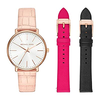 Michael Kors Reloj Analógico para Mujer de Cuarzo con Correa en Cuero MK2775