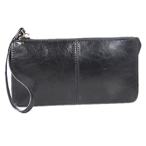 Eysee , Damen Clutch schwarz zitronengelb 20.5cm*11cm*1.5cm. schwarz