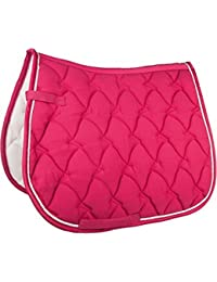 HKM Cassandra Softice Saddle Cloth Pony GP Pony Dressage General Purpose Dressage Pink/ Silver,General Purpose by Hkm