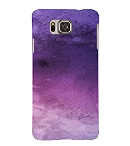 PrintVisa Purple Design 3D Hard Polycarbonate Designer Back Case Cover for Samsung Galaxy Alpha