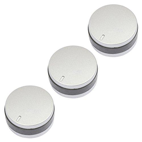 spares2go Einstellknopf für Lamona lam1160lam1180Ofen Herd (schwarz/silber, 3Stück) -