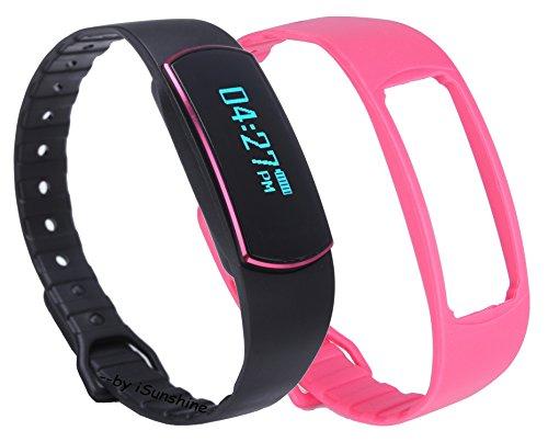 Blueshell Schrittzähler Uhr, Fitness Tracker, Wasserdicht, Sportuhr, Kompatibel mit IOS7.0+ iPhone und 4.3+ Android Handys