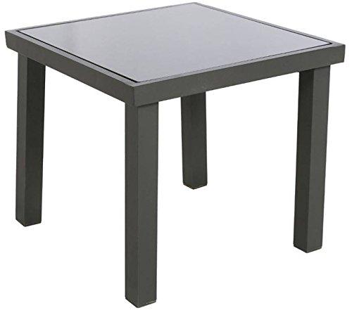 PEGANE Table d'appoint en Aluminium de Couleur Graphite - Dim : L 40 x P 40 x H 36cm