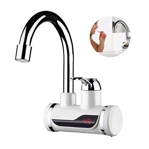 yiyitop 2019 Rubinetto Elettrico a LED Rubinetto Riscaldatore di Acqua Calda Rubinetto istantaneo di Acqua Fredda Calda Bagno di casa Cucina Riscaldamento Forniture 220V 2 Colori