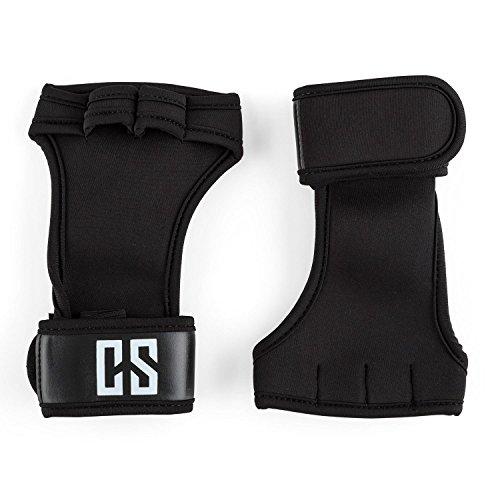 CAPITAL SPORTS Palm Pro Gewichthebehandschuhe Gewichtheben Fitness Handschuhe Handgelenkschütze (Schutz gegen rutschige Hantel- oder Pull Up Bars, besonderer Schutz der Handgelenke durch Wriststrap, S, M L XL ) schwarz oder blau