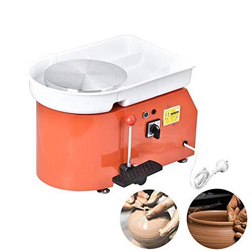 Lunuolao 25cm 350w elektrische Töpferscheibe, die die Maschine bildet, zusammenpressend, schön, korrosionsbeständig, Auslaufschutz, langlebig, Gebrauch einfach