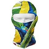 Hectwya Maschera per Il Viso Tropical Beaks Toucan Green Passamontagna Decorativo Decorativo, Sciarpa Magica, Fascia per la Pesca, Yoga, Motocicletta