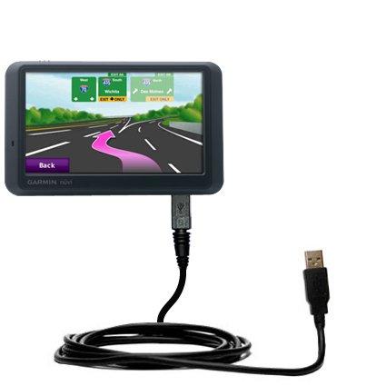 Das Hot-Sync Straight USB-Datenkabel für Garmin Nuvi 775T mit Lade-Funktion mit TipExchange kompatiblen Kabel (Gps-navigation 775t)