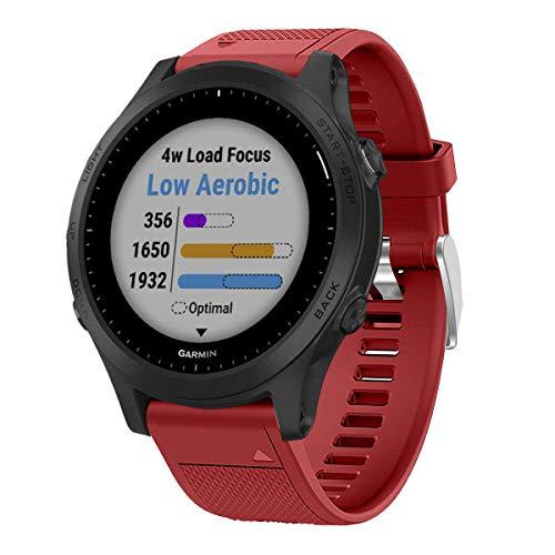 VICARA Совместимость с ремешком Garmin Forerunner 945, ремешками QuickFit из мягкого силикона для часов Совместимые часы Garmin Forerunner 945
