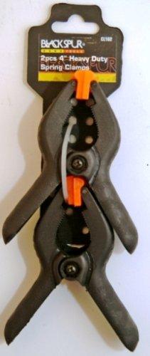 Blackspur Lot de 2 sangles de 100 mm en plastique noir et collier de serrage
