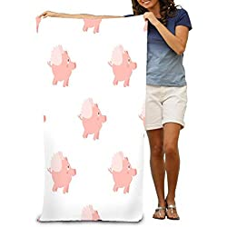 fdgjydjsh Unisex Beach Towels Bath Towels for Teen Girls Adults Travel Towel Washcloth 31x51 Inches c Pig Wallpaper Nature