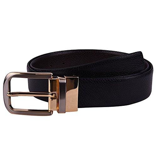 B&W Men's Premium Reversible Belt- Leather- 35MM- Textured- DUAL finish