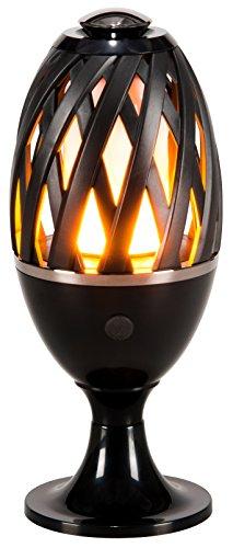 LED-Highlights Deko Lampe Feuer Fackel Garten Leuchte 10 x 24 cm Akku kabellos Flammeneffekt Stimmungslicht Tischlampe Rund Innen Aussen Wasserdicht