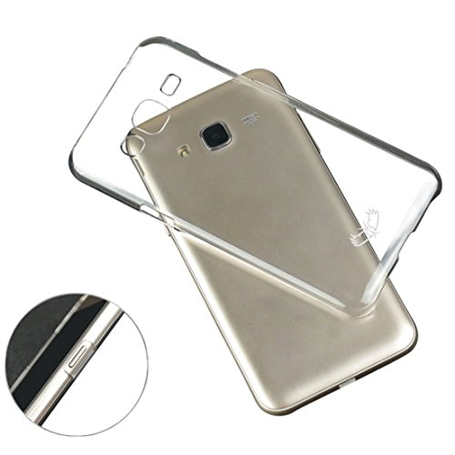 Enthopia Ultra Thin Uncrackable Transparent Flexible HARD BACK CASE Cover for Samsung Galaxy J3  available at amazon for Rs.95