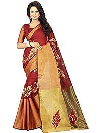 Jency Fashion Embroidered, Embellished, Self Design Kanjivaram Saree