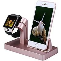 ALLCACA 2 en 1 Estación de Carga para iPhone/Apple Watch Serie 1&2&3/iPad Mini Dock iPhone5/5s/6/6S/6plus/7/7plus Cargador Apple Watch (Rosa)