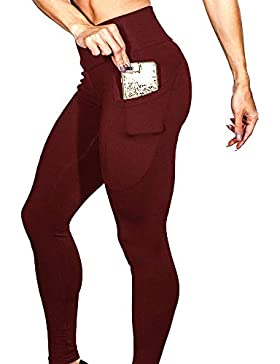 Mujeres Pantalones de Yoga Fitness Workout Running Mallas Pantalon Yoga Leggings de Gimnasia Deportivas de Mujer...