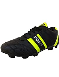 Port Unisex Black Andy PU Football Shoes