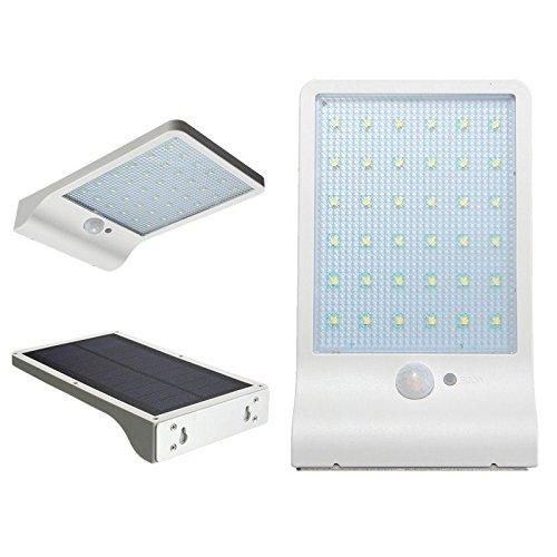 Loveusexy Solar Gutter Lights Wall Wandlampen mit Montage Pole Outdoor Bewegungsmelder Licht Sicherheit Beleuchtung für Scheune Veranda Garage White