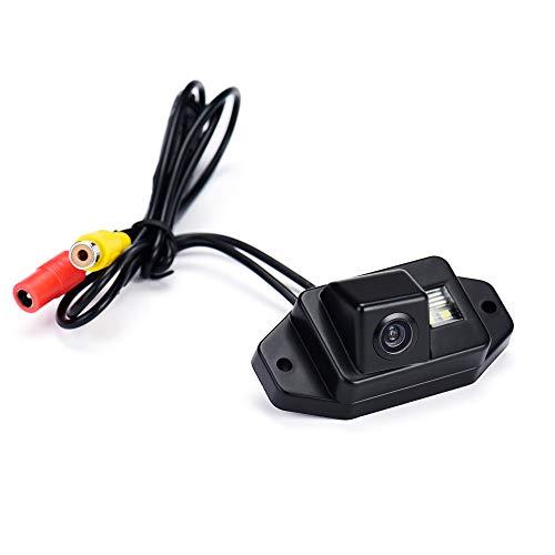 Jamicy® Rückfahrkamera Kit mit 12V RCA Video Kabel & Stromkabel, Auto Einparkhilfe Autoparksysteme für Toyota Prado Land Cruise