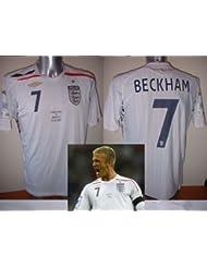England bnwot Beckham Brasilien Wembley Erwachsene Medium Large XL XXL Umbro New Fußball Shirt Trikot LA Galaxy Euro