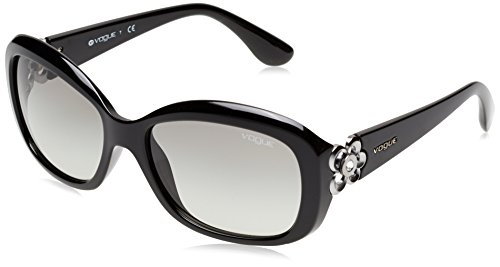 Vogue Rectangular Sunglasses (Black and Silver) (VO2846SB_W4411_57) image