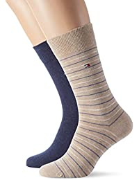 Tommy Hilfiger Th Men Washed Stripe Sock 2p, Chaussettes Homme, (lot de 2 )
