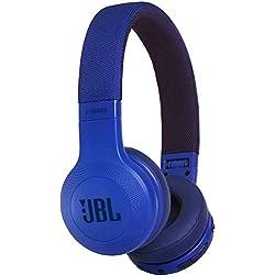JBL E45BT - Casque audio supra-auriculaire - Polyvalent et confortable - Écouteurs Bluetooth pliables avec câble détachable - Autonomie jusqu'à 16 hrs - Bleu
