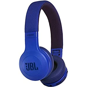JBL E45 On-Ear Headphones - Foldable Bluetooth Headset with Ear Cups Sound Control and Detachable Cable - Blue