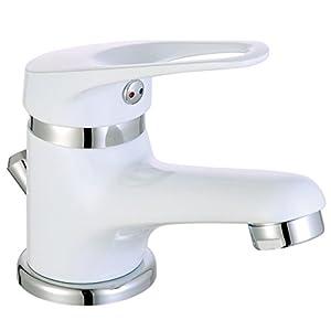 EISL NI075SCR-W – Grifo monomando de baño, 1pieza, color blanco