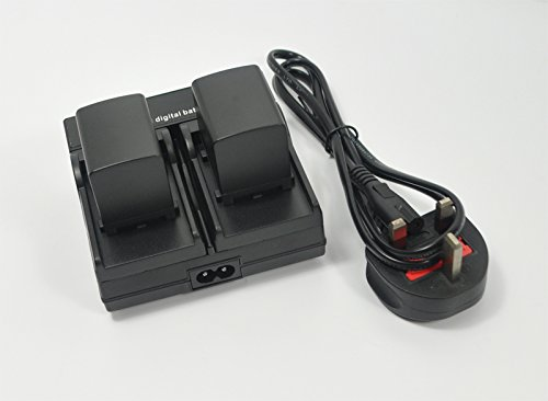 New-BTBAI-178A-2x-BatteryAC-Wall-Dual-Channel-Charger-for-Canon-BP-820-BP820-BP-828-BP828-VIXIA-HF-G30-XA20-XA25-Video-Camcorder