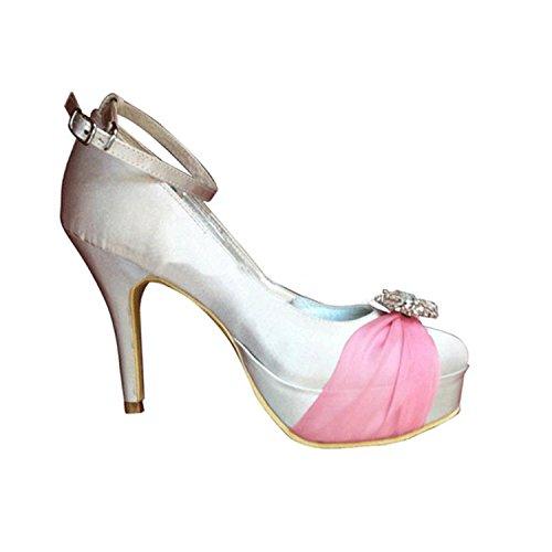 Kevin Fashion , Chaussure de mariée fashion femme Rosa - rosa
