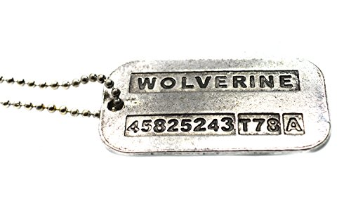 Orígenes Lobezno James Logan en X-men Vintage arma-X de acero de doble faz Dog Tag
