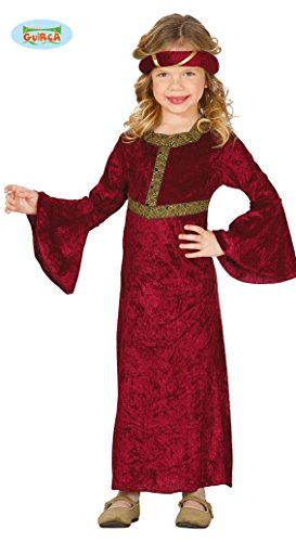 Burgfräulein - Kostüm für Mädchen Gr. 98 - 146, Größe:98/104