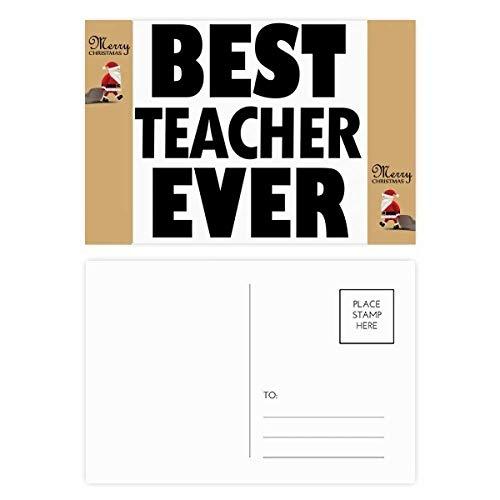 Tarjeta agradecimiento cita Papá Noel mejor profesor