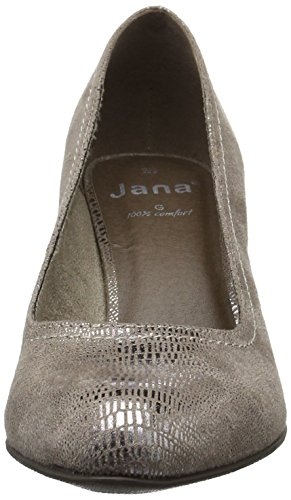 Jana 22406, Scarpe con Tacco Donna Marrone (Taupe Met Stru 393)
