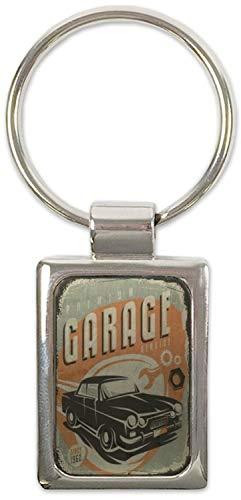 Schlüsselanhänger Oldtimer Auto Garage Bedruckt