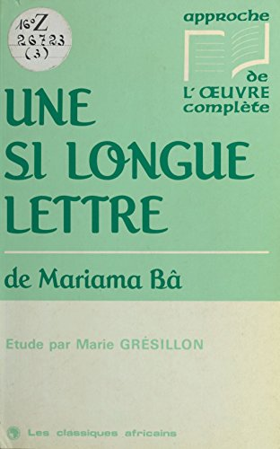 Une Si Longue Lettre De Mariama Bâ Étude [Pdf/ePub] eBook