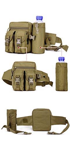 YAAGLE Armee Fans Sporttasche militärisch Hüfttasche Lovers Freizeit mit Trinkblasenfach outdoor Fahrradtasche Bergsteigen Taschen Bauchbeutel-orange Tarnung 4